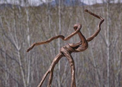 Aufschwung in die Lüfte', Rosmarin, Fundort Andalusien, Oberfläche mit Holzbeize behandelt.